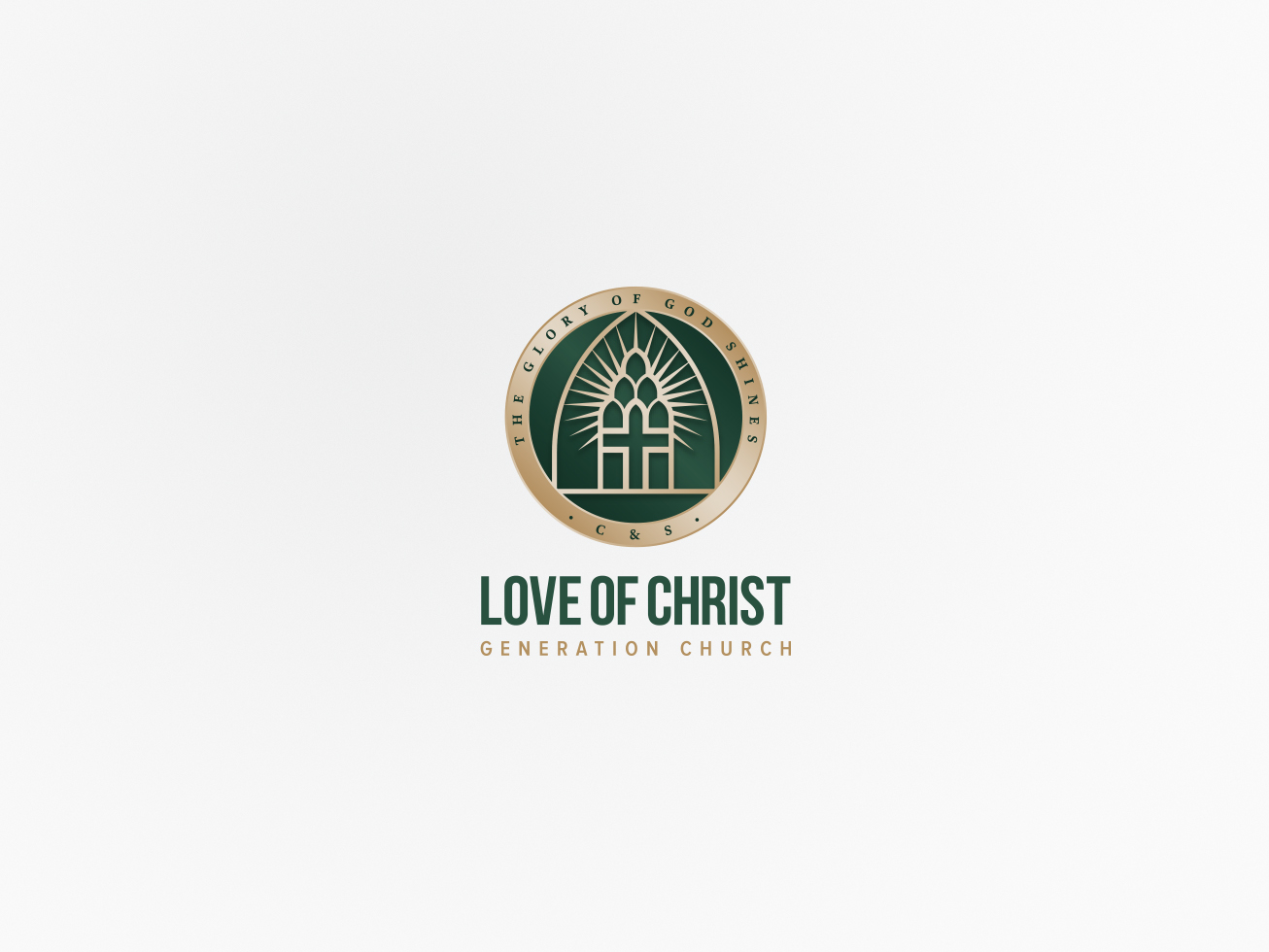 love of christ logo with all seal compact alternative colour