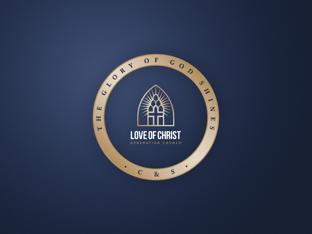 Love of christ church initial favourite brand logo version