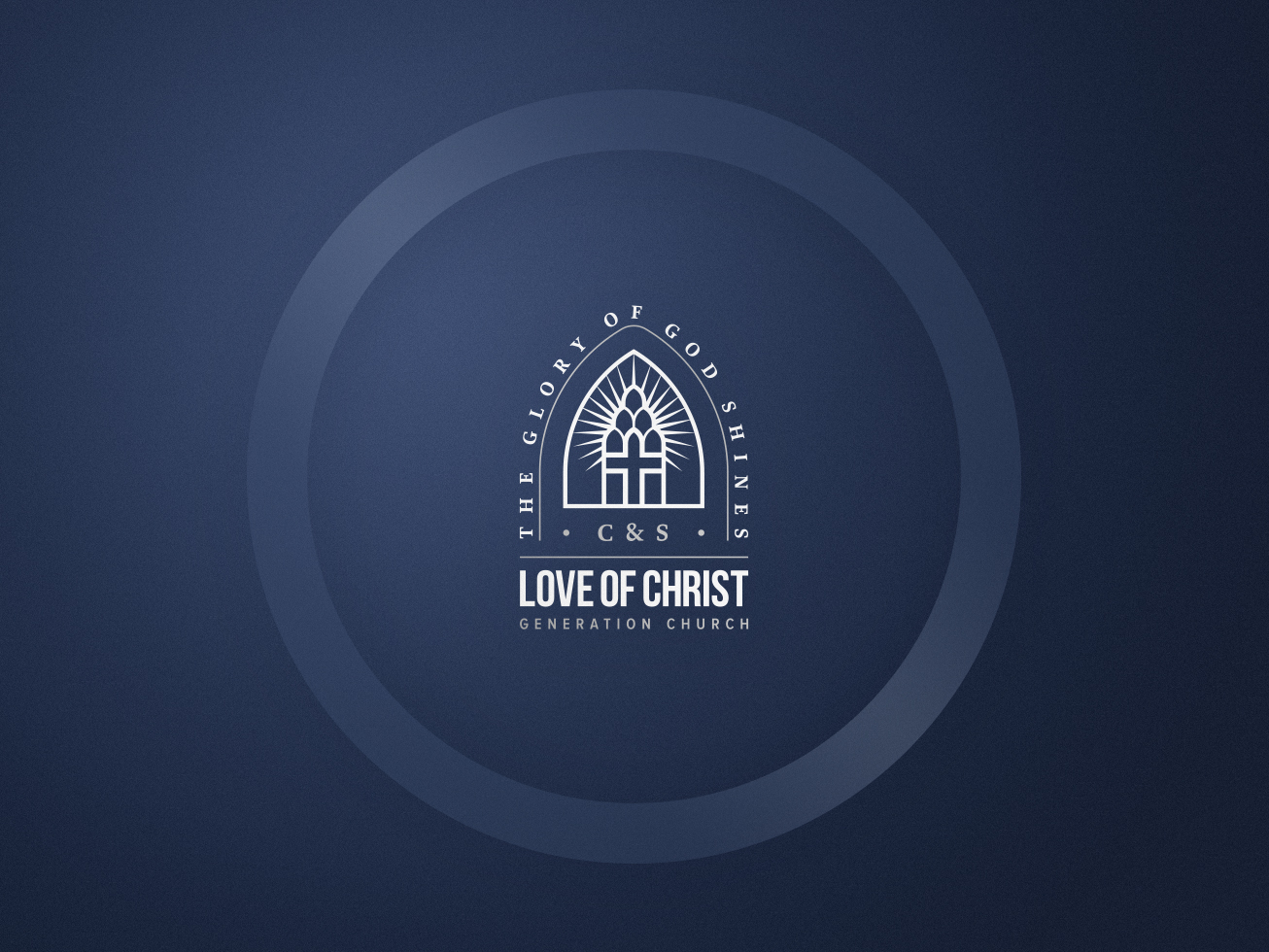 Love of christ church initial favourite brand logo version option 2