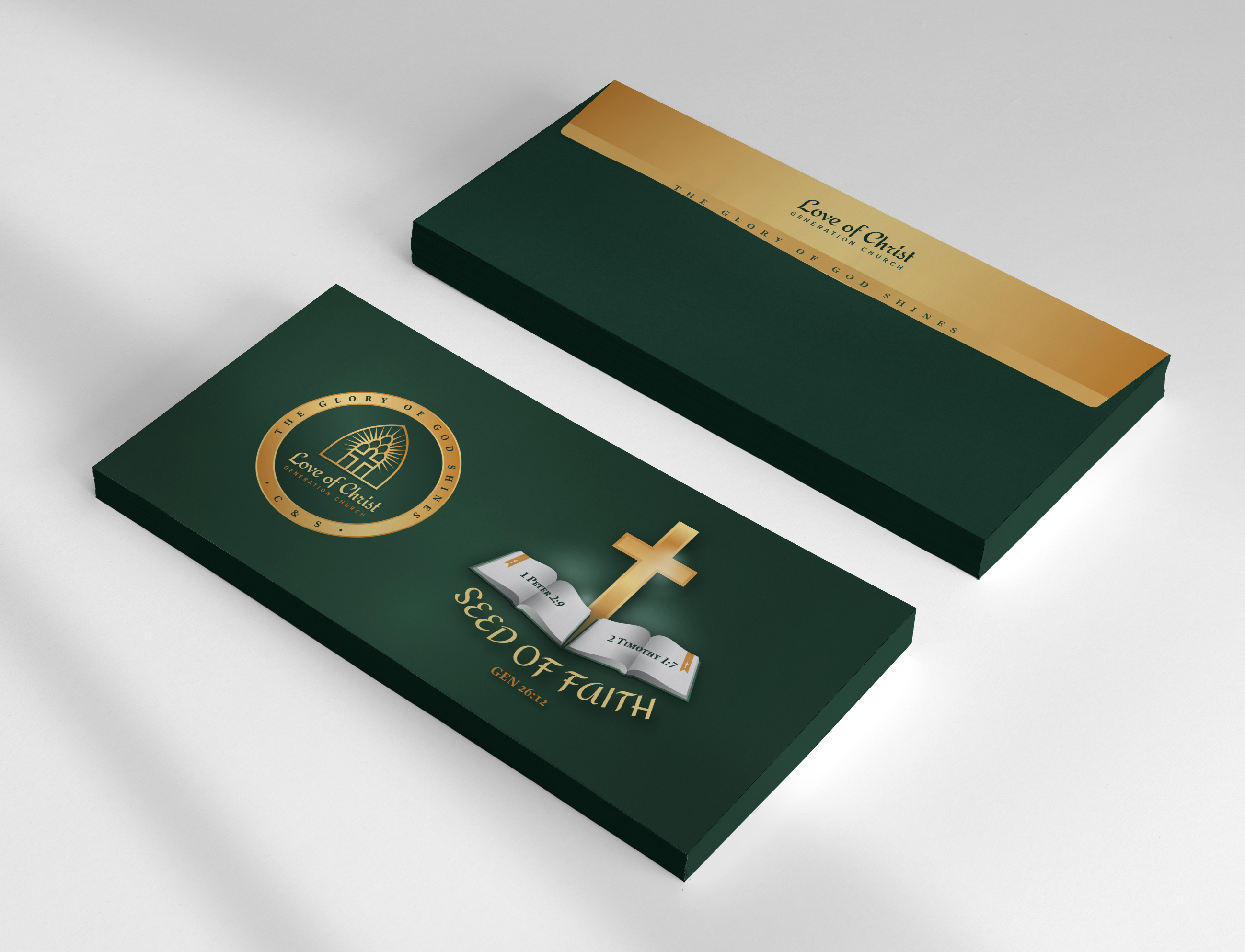 love of christ envelope design
