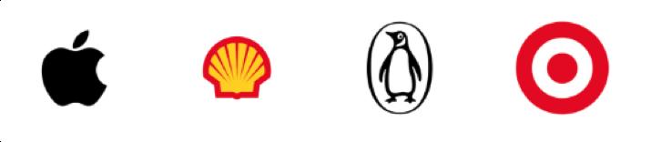 Apple Shell Penquine and Target Logo Mark