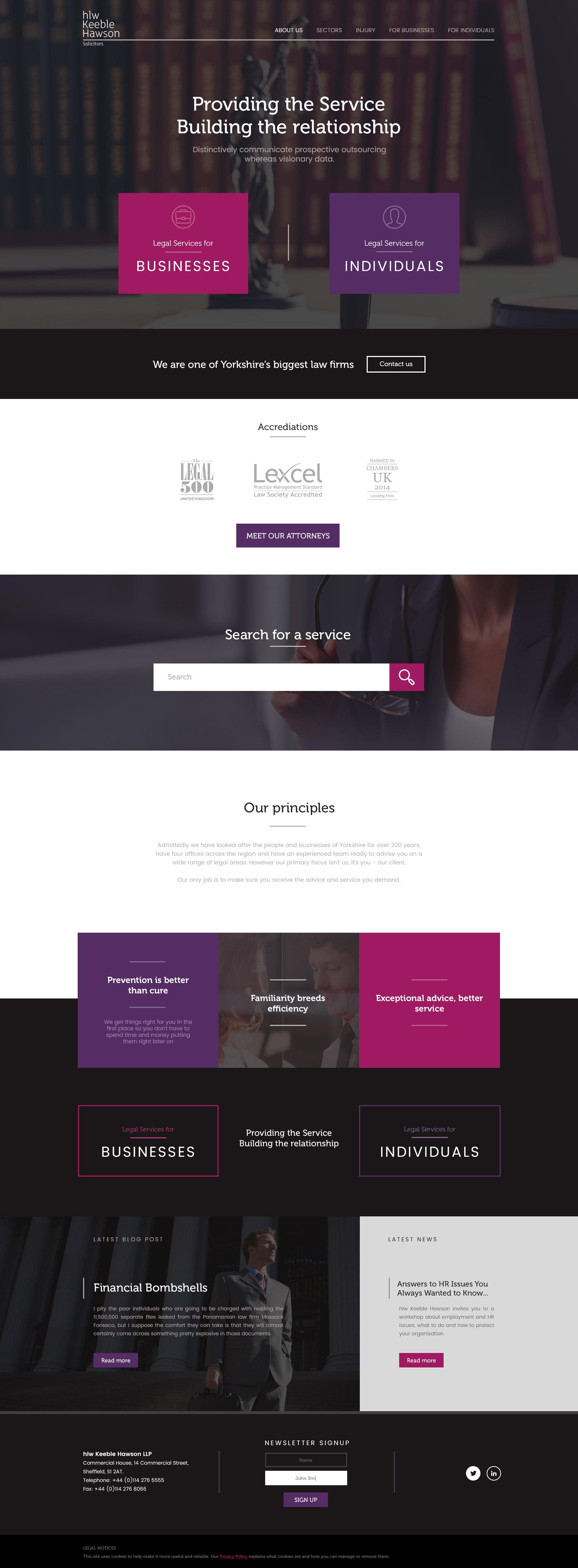 Purposeful Website page