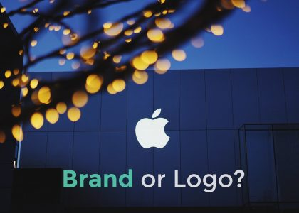 difference between a brand or a logo for apple