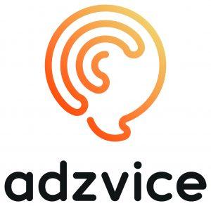 adzvice logo designed by startteck
